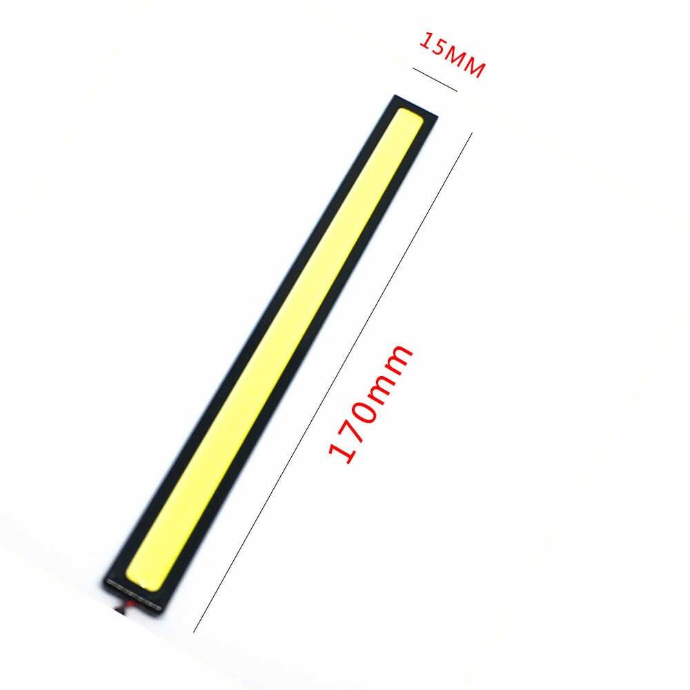 2 adet 17 cm COB DRL Sürüş Gündüz Çalışan ışıklar şerit DRL 12 V COB LED çubuk Alüminyum Çizgili Paneli Araba çalışma ışıkları