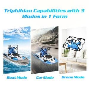 Image 5 - 3 ב 1 RC Drone סירת רכב מים קרקע אוויר מצב שלושה מצבי בלי ראש מצב אחיזת גובה RC מסוקי צעצועים עבור ילדים