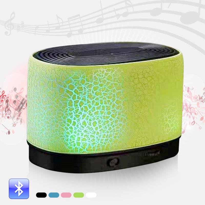 Mini Desktop Led Bluetooth Speakers Wireless Music Bass Speaker Support TF Card FM Radio ...