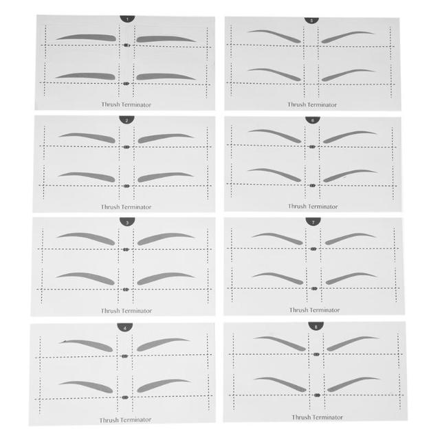 8 Types Eyebrow Stencil Eye Makeup Eyebrow Easy Drawing Guide Template Stickers Eye Brow Shaper Stencil Models Tool 1