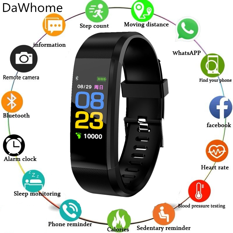 Outdoor Smart Watch Men Women Heart Rate Monitor Blood Pressure Fitness Tracker Smartwatch Sport Watch For Ios Android +BOX