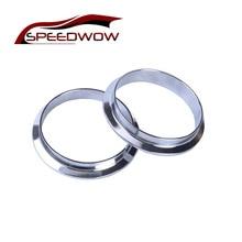 SPEEDWOW 2,5/3,0/3,5 дюймовый v-ленточный фланец мужской+ женский комплект Turbo фланца выхлопной трубы