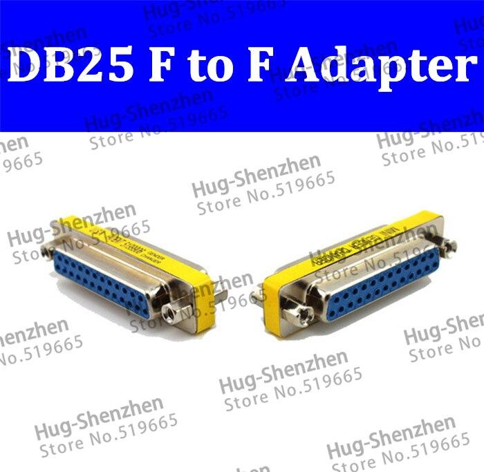 Promoção por Atacado Fêmea para Fêmea Adaptador Estendida Cabo Serial Pin Db25 m – Mini Gender Changer Conector 50 Pcs 25