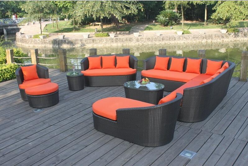 Large Size Outdoor Sofa Set New Design Garden Furniture Large Rattan Sofa  Set Wicker Patio Set Outdoor Furniture Set 10 13 Seat In Garden Sofas From  ...