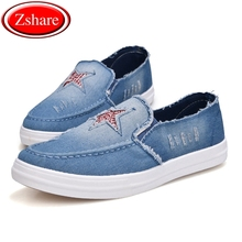 Fashion Denim Canvas Men Casual Shoes Man Loafers Slip-on Shoes 2019 Summer Comfortable Breathable Sneakers Men Driving Shoes стоимость