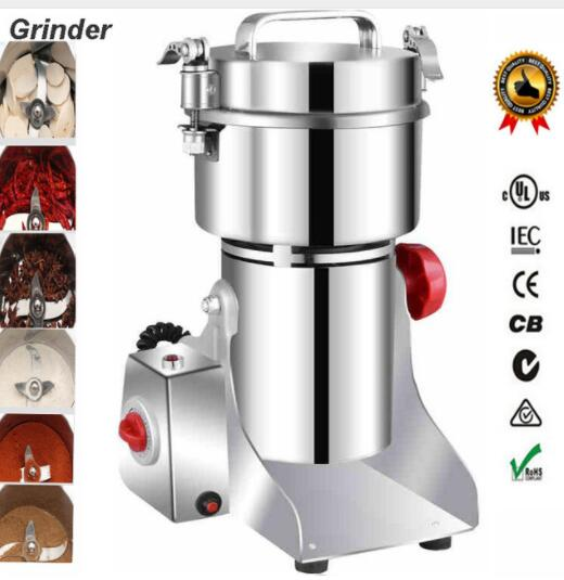 Big Capacity 700g Multifunction Pulverizer Machine Automatic Mill Herb Grinder Swing Type Electric Grain Grinder