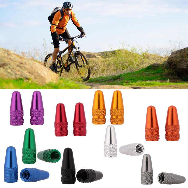 10 Pcs אלומיניום אופני Presta Caps אופני הרי MTB אופני צינור בצור צמיג שסתום כובע אבק כיסוי אופניים אבזרים