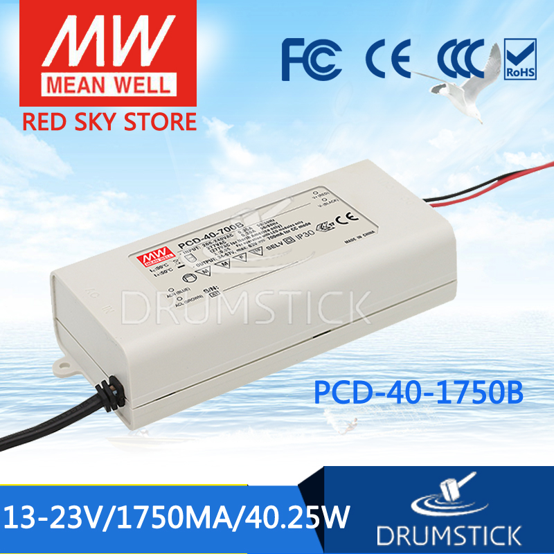 MEAN WELL PCD-40-1750B 23V 1750mA meanwell PCD-40 23V 40.25W Single Output LED Switching Power Supply [Real1] стоимость