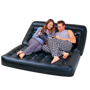 Image 1 - Camping Sofa PVC Outdoor Bed Apartment Folding Naive Home Sofa Black Furniture Modern Inflatable Air Sofa Beds Living Room Sofa