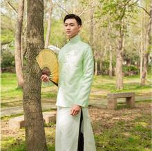 Men clothing Jacket + Robe In Republic of China antique costumes film television Stage dramas young Masters Long Tang Suits