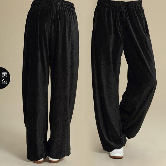 Росы Утолщение вельветовые брюки тай-чи мужчин и женщин утренняя зарядка одежда форменная Новый пункт цю дон