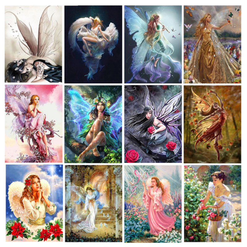 Wing Girl 5D DIY Diamond Painting Embroidery Cross Stitch Craft Kit Home Decor