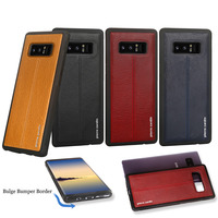 Pierre Cardin High Quality Vintage Genuine Leather Phone Case For Samsung Galaxy Note 8 Slim Hard
