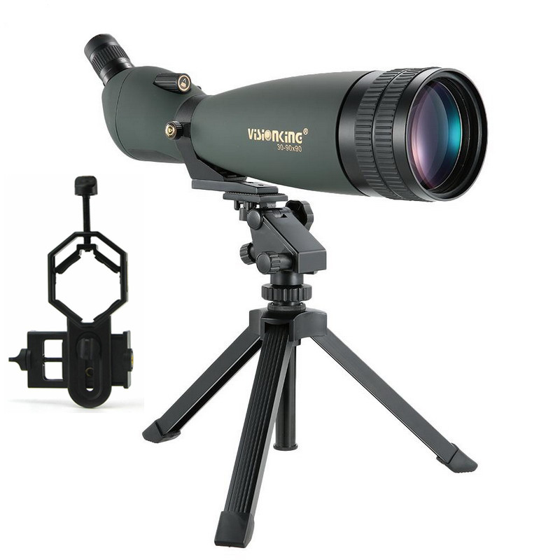 Visionking 30 90X90 Spotting Scope Bak4 Hunting Bird watching Guide Long Range Waterproof Monocular Telescope With