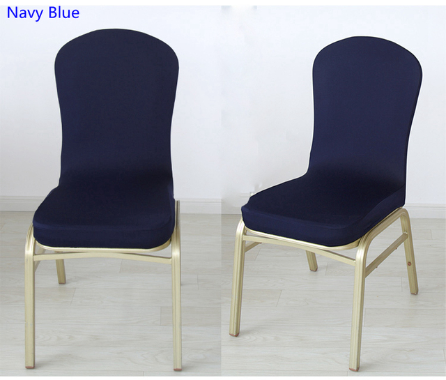Navy Blue Colour Half Style Spandex Chair Covers For Wedding Hotel Home  Banquet Chair Decoration Lycra