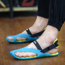 Charming Male Summer Sandals Slippers 2017 New Arrived Man Jelly Ultralight Flip Flops Sandals Pria Slippers Free Shipping