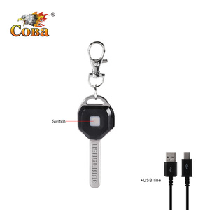 Image 4 - Coba mini LED flashlight Keychain light Portable key lanterna small torch 2 modes outdoor glare USB rechargeable