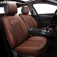 [KOKOLOLEE] pu Leather Car Seat Cover for opel zafira b lincoln mks mkx mkc mkz saab 93 95 97 2010 2011 2012 car seats protector