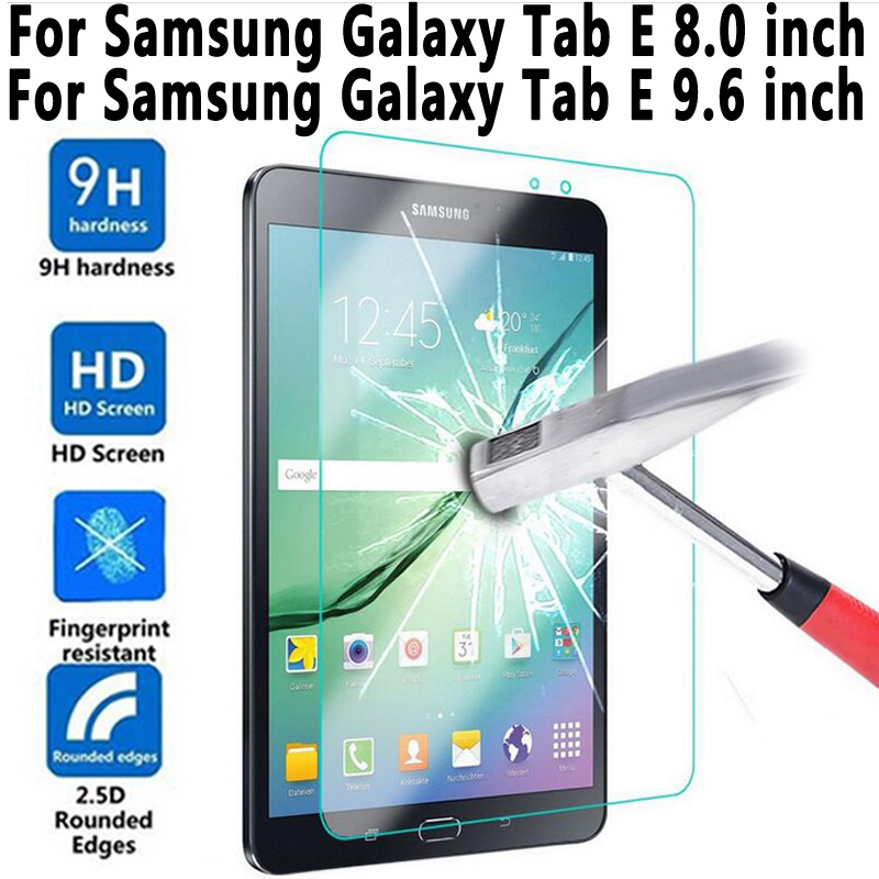 Trempé Verre Pour Samung Galaxy Tab E 8.0 T375 T377 T377R T377P T377W Écran Protecteur pour Samung Galaxy Tab E 9.6 T560 T561