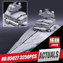 Лепин 05027 3250 шт. Star император бойцов модель корабля учебный корпус комплект Конструкторы кирпича войны игрушки Совместимость 10030 для мальчиков