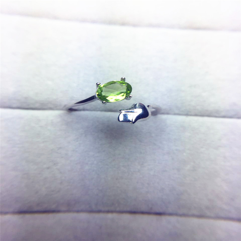 Zelená Peridot výročí prsten šperky pro ženy skutečný 925 Sterling Silver Vantage dárek