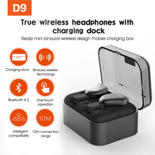 SYLLABLE D9 TWS Bluetooth Earphone True Wireless Stereo Earbud Waterproof Bluetooth Headset for Phone HD Communication Portable