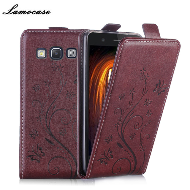 Luxury Leather Case for Samsung Galaxy A5 A500 SM-A500F Case Vertical Flip Cover Butterfly Embossing Wallet Card Slot Phone Bag