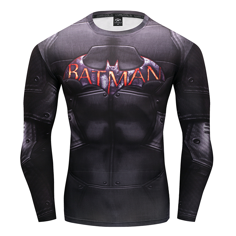 2017 Marvel Superhero Winter Soldier Bucky 3D Men   T     Shirt   Fitness Crossfit   T  -  Shirt   Long Sleeve Compression   Shirt   Mens MMA