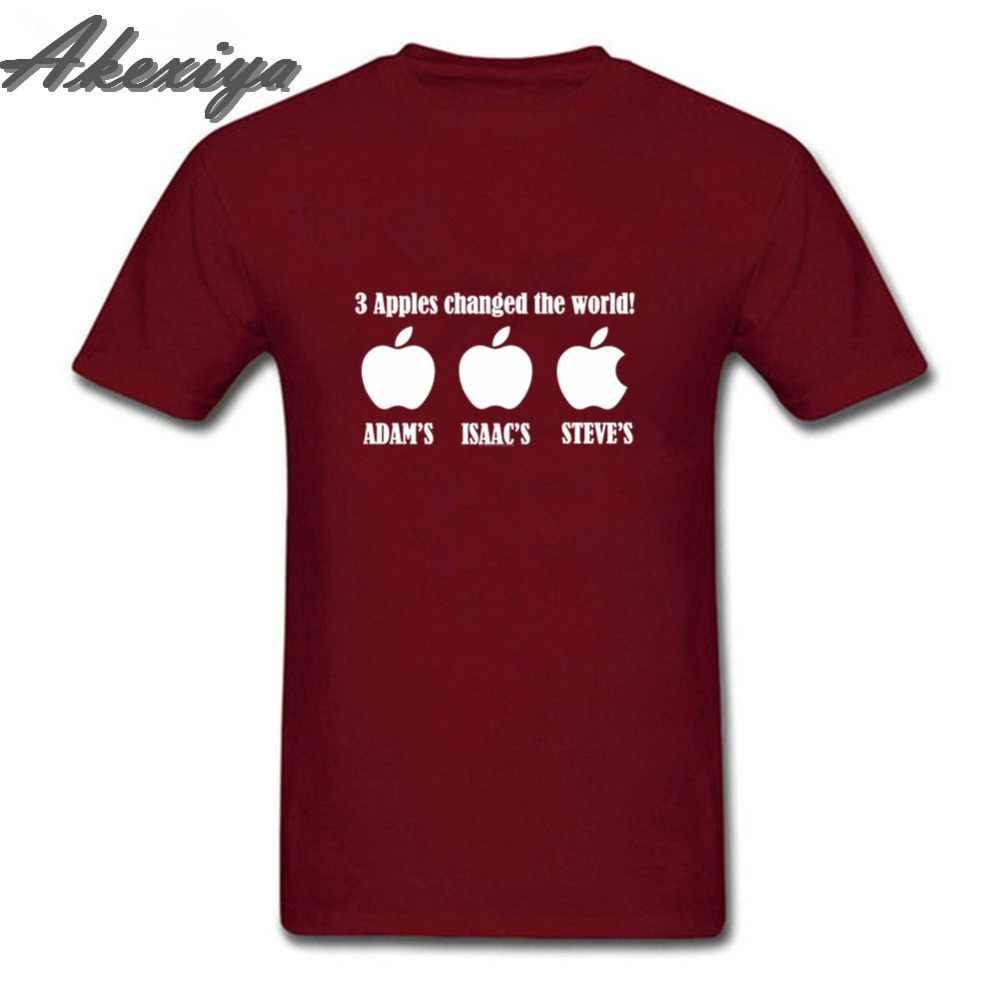 3 яблока, простая футболка, сверхъестественная Грут, меняющая мир, Adam Isaac Steve ajax, мужские футболки, fortnight, одна футболка