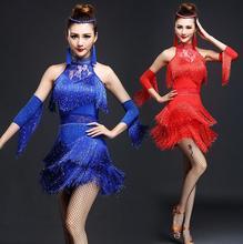 New Latin Dance Dress Women/Girls/Lady New Sexy Fringe Salsa/Ballroom/Tango/Cha Cha/Rumba/Samba/Latin Dresses For Dancing