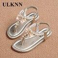 ULKNN Nuevas sandalias de las muchachas primeros caminante Del Verano nuevas sandalias de la muchacha zapatos elastic band estilo coreano de los niños del verano niño bebé