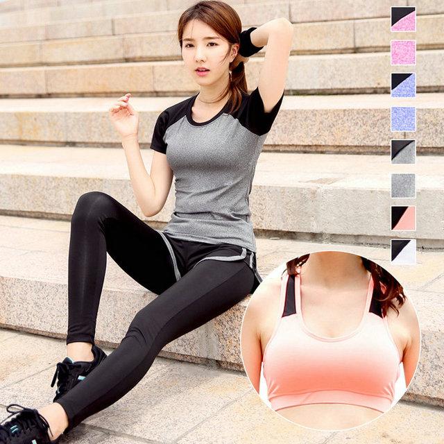 b2127618a6a 8 Candy Color Outdoor XXXL Girls Sport Fitness Set Women s High Elastic  BodyBuilding Gym Wear Running