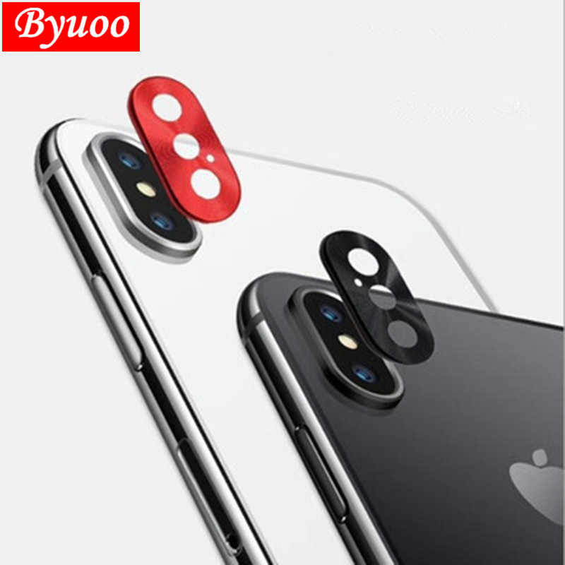 Luxury Rear Camera Guard Circle Metal Lens Case Cover Ring Bumper Protection For apple iphone X XS Max XR lens Ring accessories
