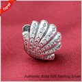Fits Pandora bracelets Ariel Shell Charm Clear Cubic Zirconia New Original 100% 925 Sterling Silver Charm DIY Jewelry Wholesale