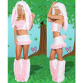 New Fashion Sexy Pink Bunny Costumes For Women Halloween Carnival Rabbit Cosplay Sexy Christmas Exotic Apparel Lingerie