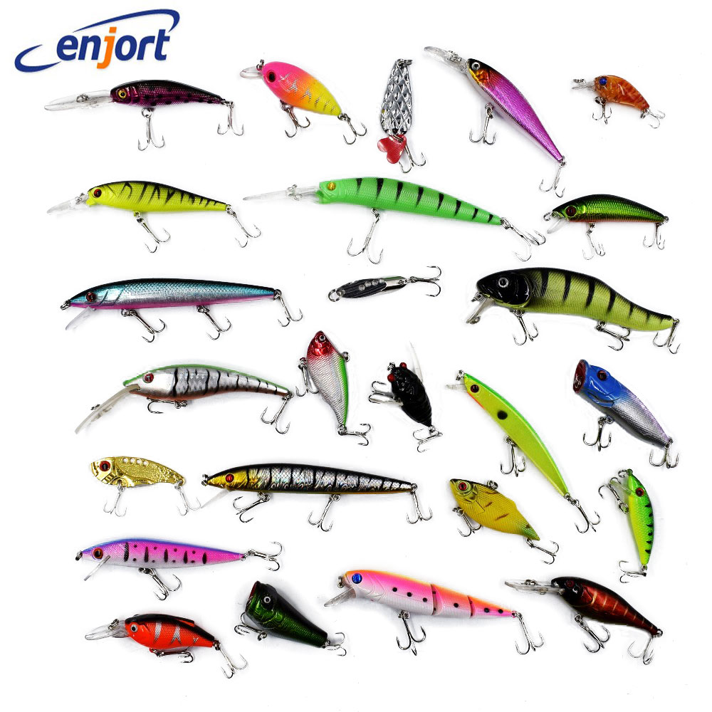 20pcs/lot Random size/colors fishing lures Mixed Minnow wobbler isca artificial hard bait fishing tackle swimbait Free shipping