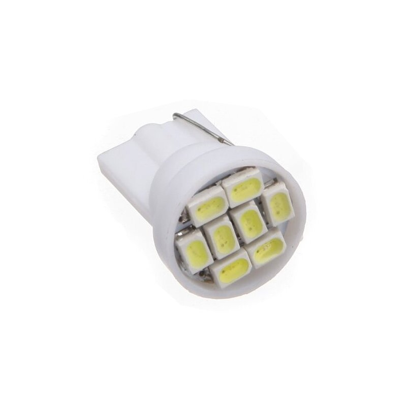 100X Wholesale Auto Car led W5W 194 T10 PINGO 8 LEDS SMD 3020 8SMD for reading width license plate SIGNAL light