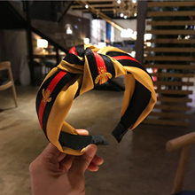 Fashion Headbands New Arrival Hair Accessories Women Wide Side Ribbon Striped Knotted Hairband For Turban Wholesale