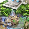 Custom Personalized Flowing Water Health Caishan 3 D Three Dimensional Floor Painting Background Super Green Floor