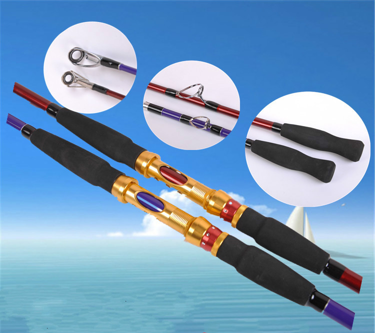 Cheap 1.8/2.1/2.4/2.7m Carbon Hard 2 Section Spinning Lure Rod Superhard Fishing Rod Tackle Strong Free Shipping carbon spinning golden fishing rod 2 1m 1 98m 2 4m 2 section free shipping by ems