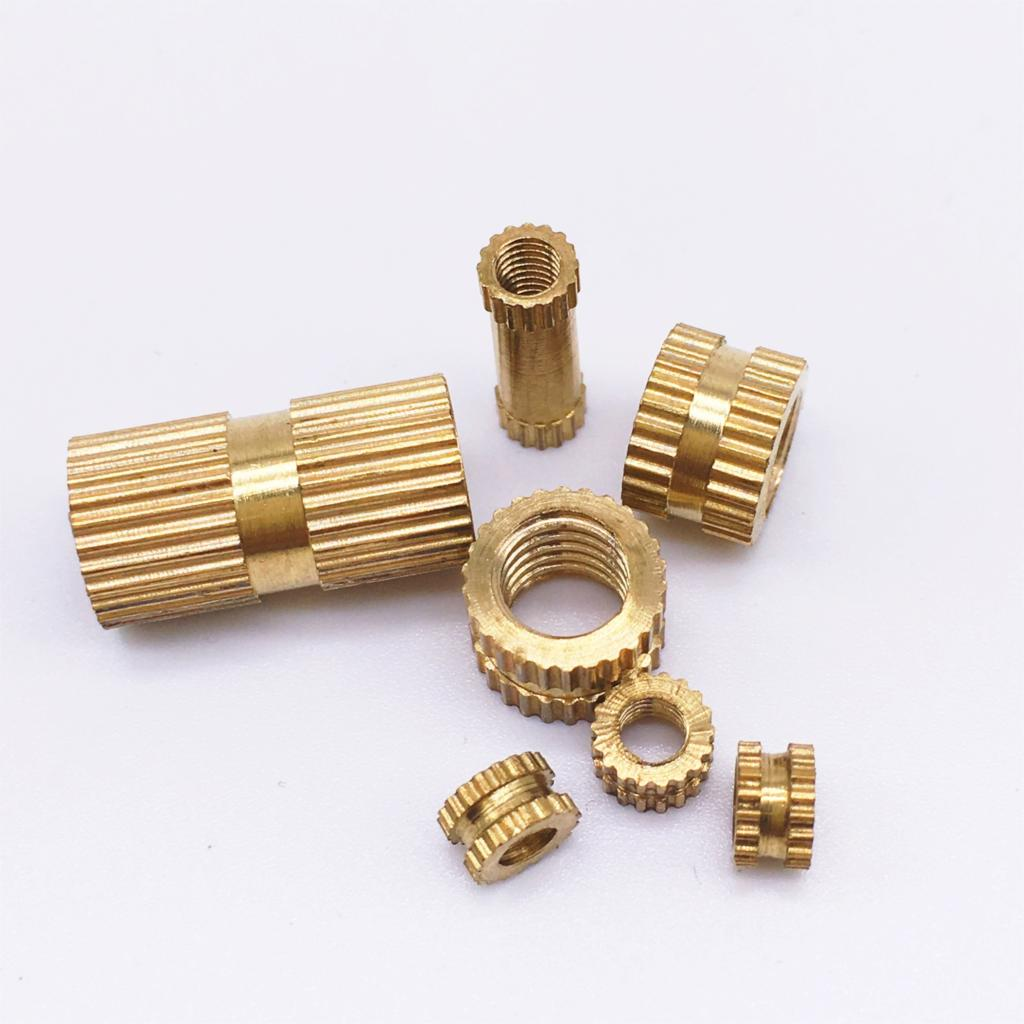 M4 x 6 x 4 Insert round nuts Brass Rohs PASS 1000 pieces
