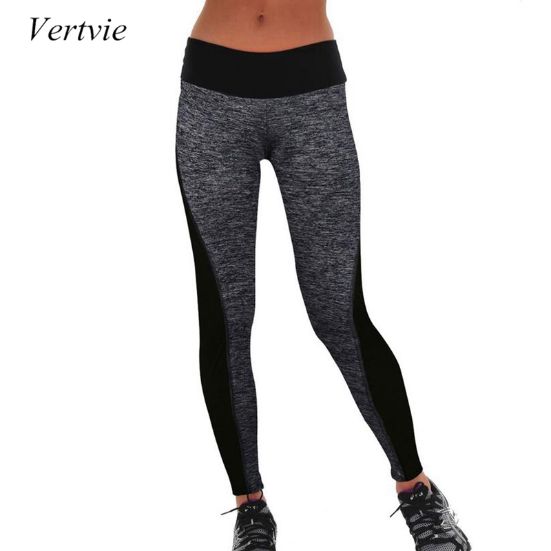 8161300174ca48 Vertvie Women Running Pants Tights High Waist Stretched Breathable Sport  Gym Fitness Tights Elastic Yoga Pants Female Leggings