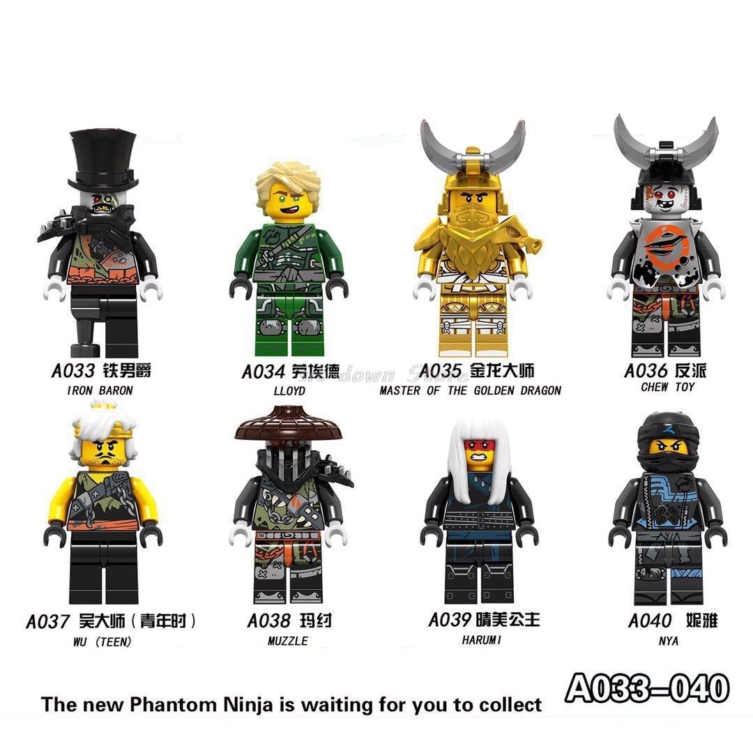 Single Sale A007 Ninjagoes Nya Jay Ultra Violet Hutchins Zane Kai Harumi Samurai Building Blocks Bricks Gift Toys Legoings Toys Model Building