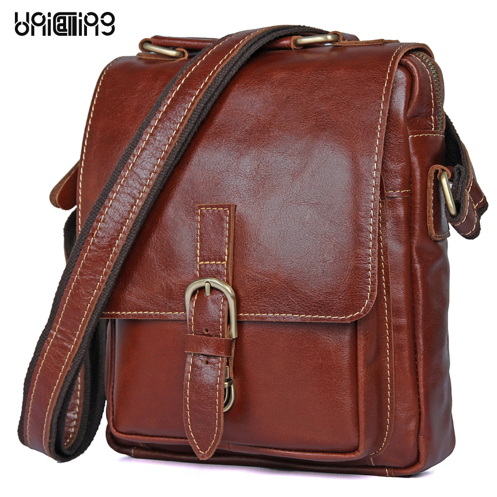 New style messenger bag men leather Top grade All-match hasp Fashion Retro cow leather men bag solid color small shoulder bags new style fashion genuine leather women bag retro cow leather small shoulder bags top grade all match mini women crossbody bag