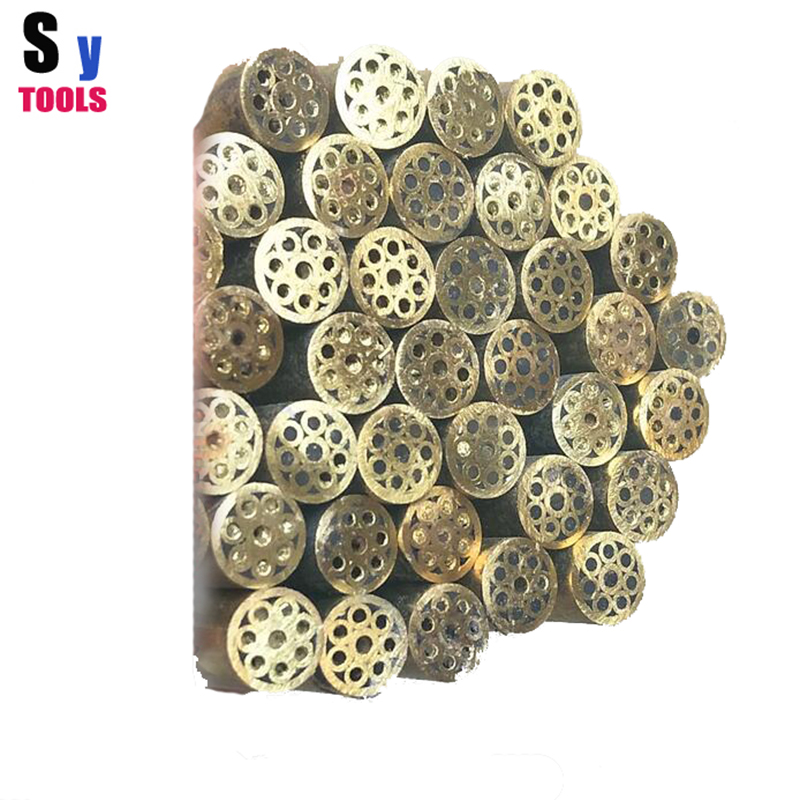 Knife DIY shank Mosaic pin Rivets 390mm nail brass tube 5mm and 6mm diameter DIY knife handle screw Polished without degumming