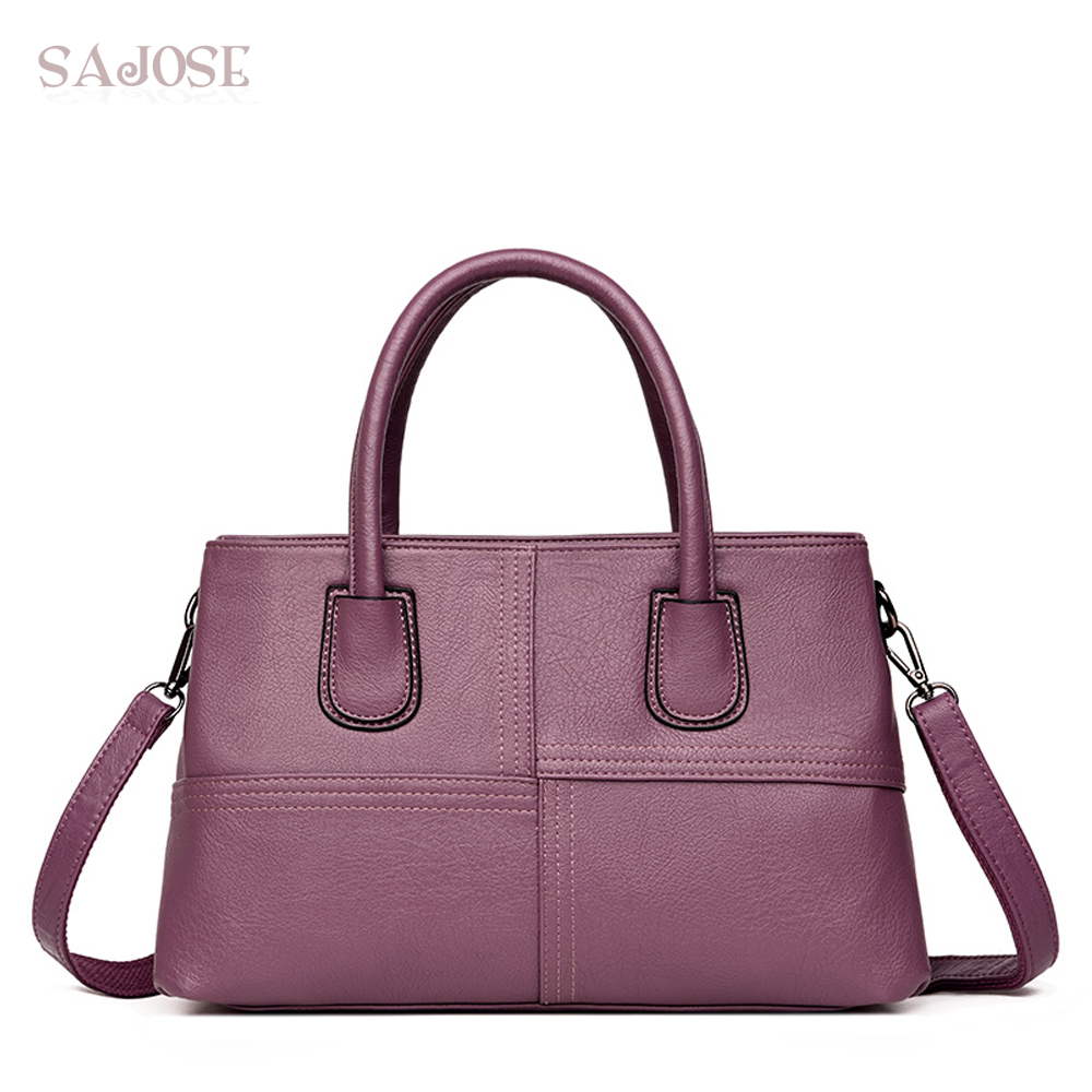 Women Leather Handbag Fashion Totes Bag Business Simple Famous Brand High-Quality Messenger Lady Shoulder Bags Drop Shipping bailar fashion women shoulder handbags messenger bags button rivets totes high quality pu leather crossbody famous brand bag