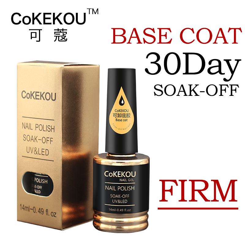 CoKEKOU Ny Nail Gel Polsk Soak Off UV Tempering Top Coat + Base Coat - Negle kunst - Foto 6