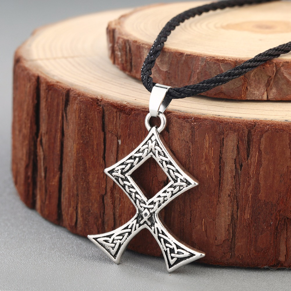CHENGXUN Teen Boys Men Necklace Nordic Viking Jewelry Scandinavia Odal Rune Pendant Celtic Knot Talisman Vintage