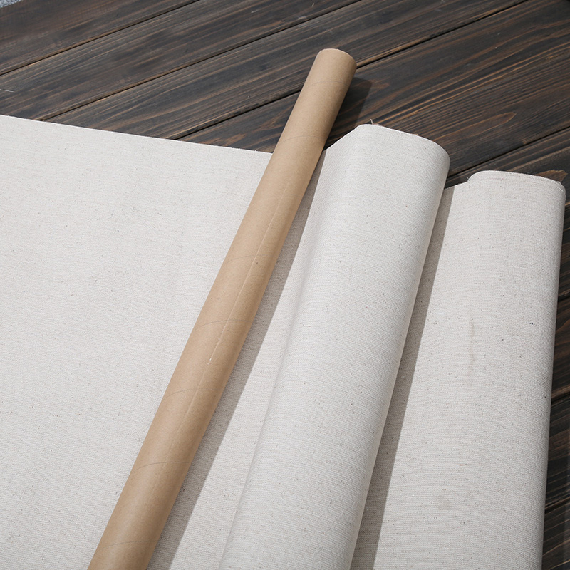 Crafts Blank Canvas Roll Oil Painting Linen Blend Primed High