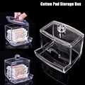 Q-tip Clear Acrylic Cotton Swab Storage Holder Box Cosmetic Makeup Case 8.8*7.7*9CM